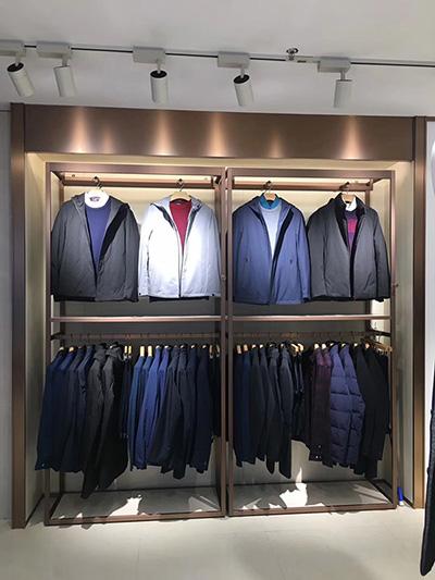 Clothing Display Racks in General Merchandise Store