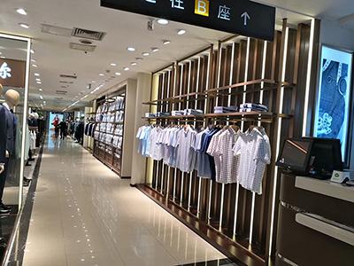 Clothing Display Racks in Multiple Shops