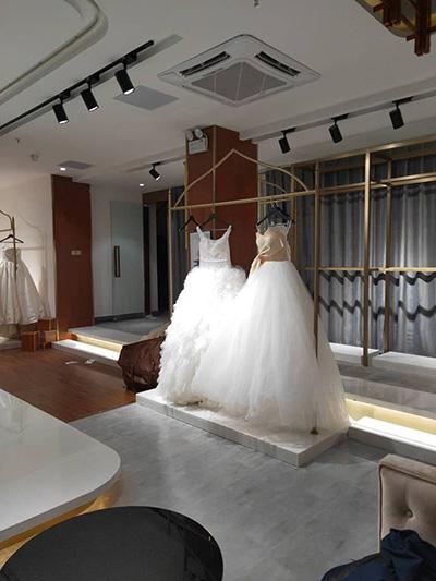 Clothing Display Racks in Wedding Studio