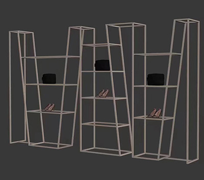 Special Shape Clothing Display Racks on Clothing Store