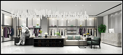 Style of Clothes Shop and Clothing Display Racks