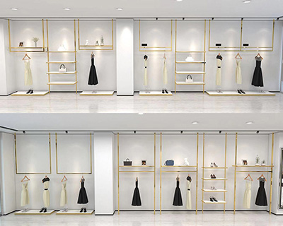 The Clothing Display Racks of Top and Ground