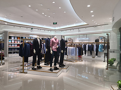 The Collocation of Clothes and Clothing Display Racks