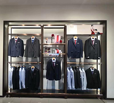 The Combination of Multi-functional Men's Clothing Display Racks