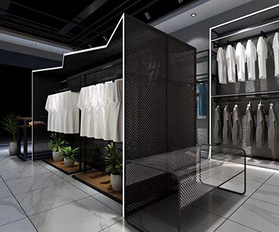 The Function of Clothing Display Racks with Special Shape in the Shop